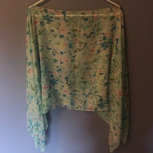 Flower sheer cape/shawl